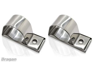 2x Stainless Steel Spot Light Brackets - 63mm