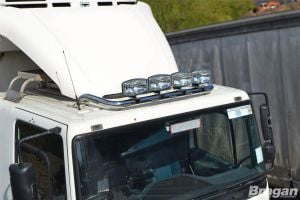 To Fit Mercedes Arocs Classic Low Cab Roof Light Bar + Jumbo Spots and Clamps