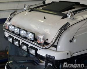 To Fit Pre 2015 MAN TGX XLX Cab Roof Light Bar B + Jumbo Spots + Clear Beacons